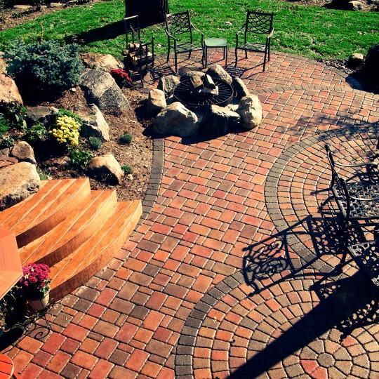 paver brick-paver patio-boulders-steps-shorewood-mn